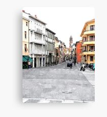 Faenza street with buildings Canvas Print