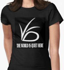 The World is Quite Here Womens Fitted T-Shirt