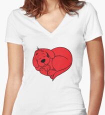clifford Women's Fitted V-Neck T-Shirt