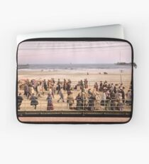 Along the beach, Atlantic City, NJ 1905 Colorized Laptop Sleeve