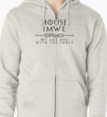 House Imwe - black Zipped Hoodie