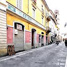 Street and shop by Giuseppe Cocco