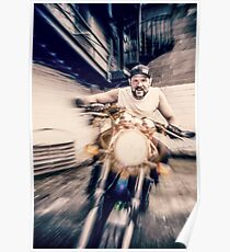 untitled - ryan on motorcycle Poster