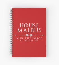 House Malbus - white Spiral Notebook