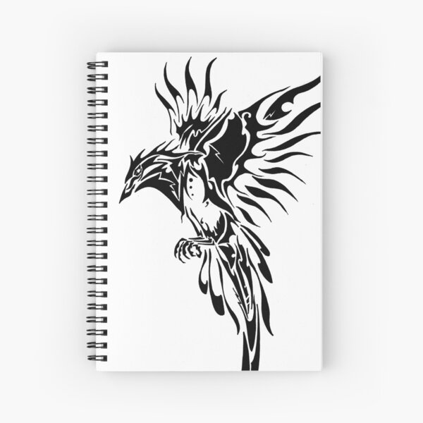 Tribal Bird  Spiral Notebook