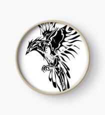 Tribal Bird  Clock