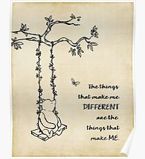 Winnie the Pooh - The things that make me different Poster
