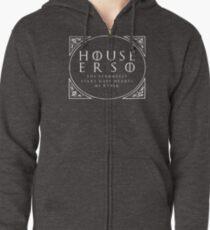 House Erso - white Zipped Hoodie