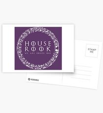 House Rook - white Postcards