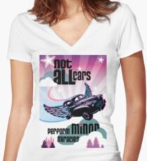 A Morris Minor Classic - Minor Miracles Women's Fitted V-Neck T-Shirt