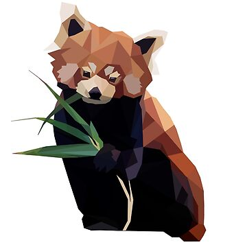 Poly Red Panda by Maya-mae