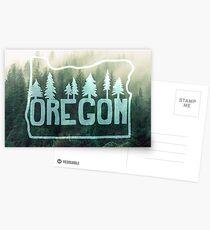 Oregon, Misty Hillside Forest Postcards
