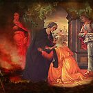 The Visitation - 2nd Mystery of the Rosary  by laxwings