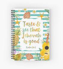 Cuaderno de espiral Pruebe y vea que Jehová es bueno