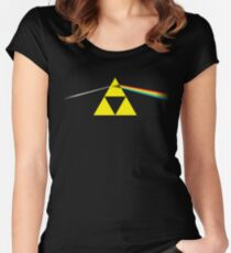 The Dark Side of the Triforce Women's Fitted Scoop T-Shirt