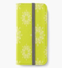 Citron offset Lace iPhone Wallet/Case/Skin