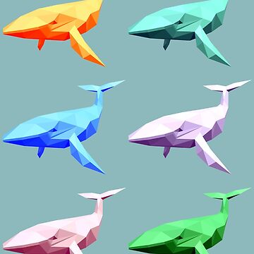 Rainbow Whales by McBethAllen