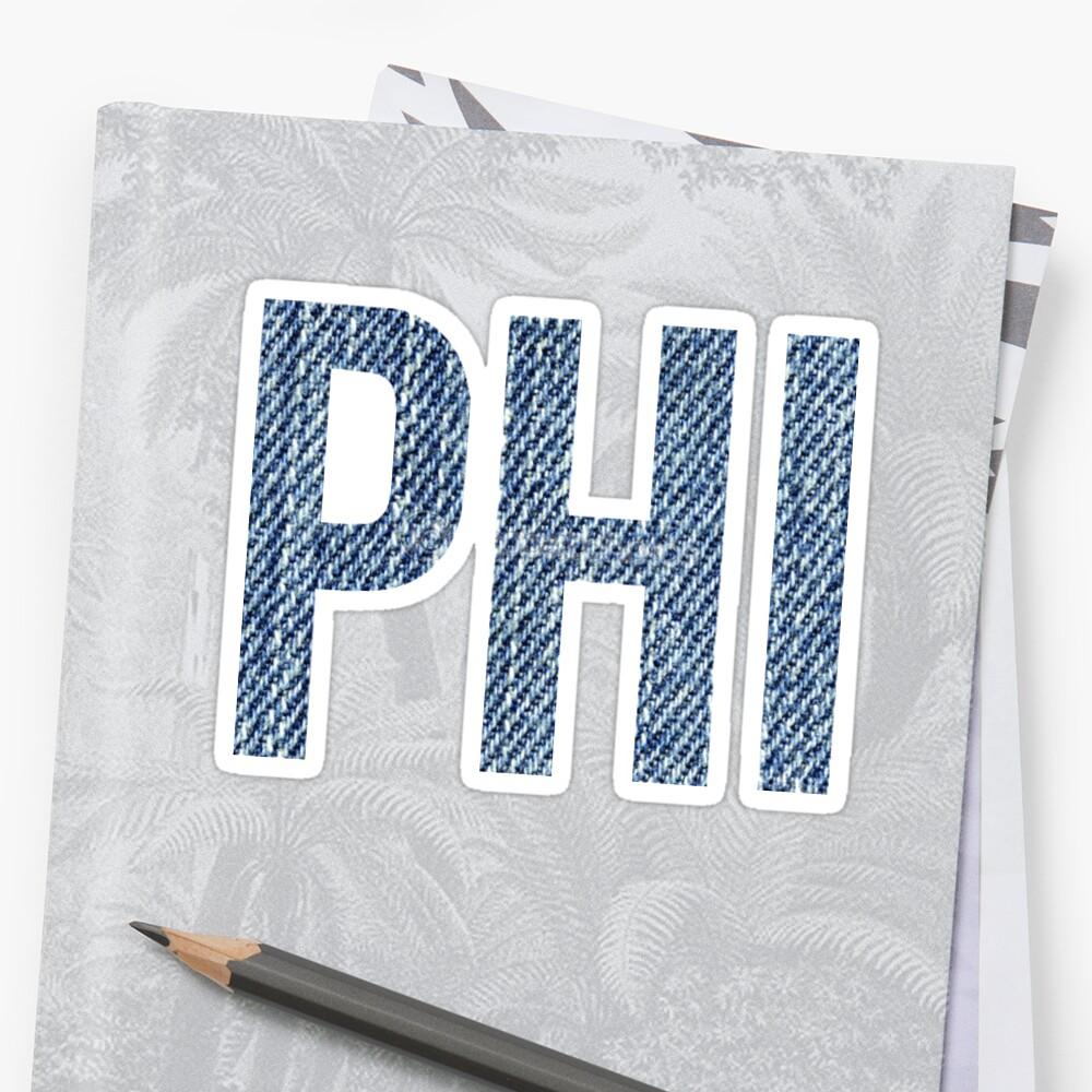 Phi (Denim) Sticker