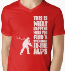 ...When You Find a Stranger in the Alps Men's V-Neck T-Shirt