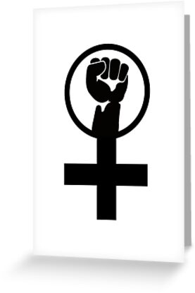 Feminist Women S Power Symbol Greeting Cards By Lgbt Redbubble