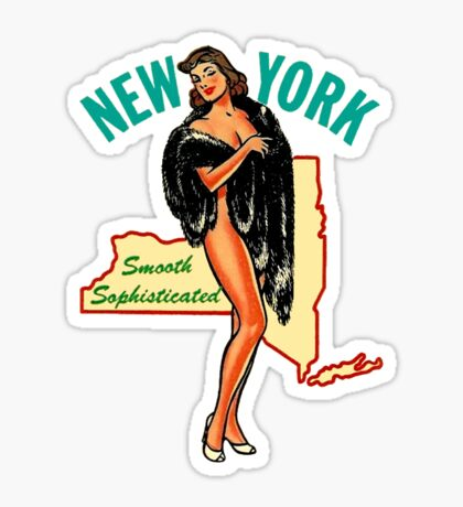 New York State Pinup Vintage Travel Decal Sticker