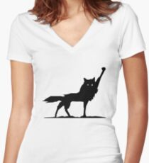 Fantastic Wolf Women's Fitted V-Neck T-Shirt