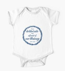 Deliberate and Afraid of Nothing (Navy) Kids Clothes