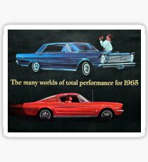 Old school Mustang and Fairlane, Ford Cars 1965 Sticker