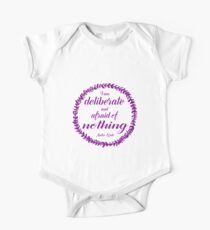 Deliberate and Afraid of Nothing (plum) Kids Clothes