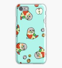 Pineapple conure texture with apples and bells iPhone Case/Skin