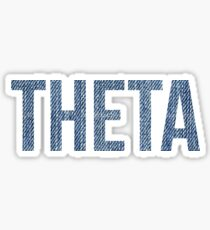 Theta (Denim) Sticker