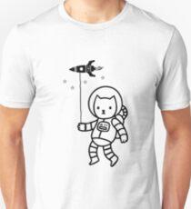 Raum Katze Slim Fit T-Shirt