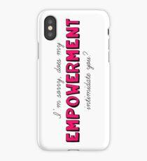 Empowerment Intimidation iPhone Case/Skin