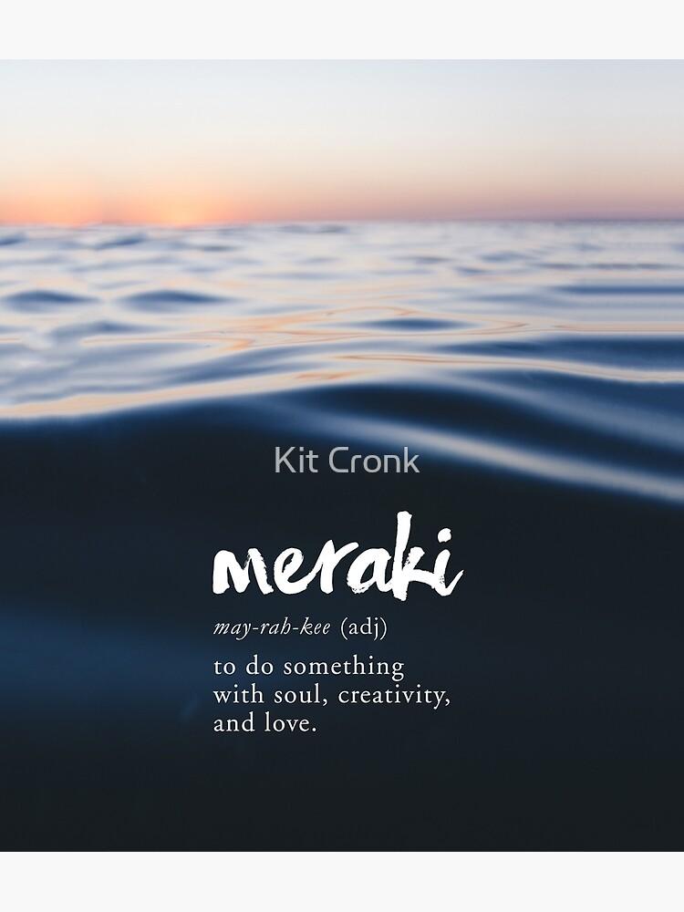 Meraki Definition - Creativity Quote - Ocean Sunset | Photographic Print