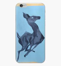 Ghostly Leaping Blue Deer  iPhone Case