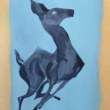 Ghostly Leaping Blue Deer  by EricaBottger