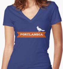 Put a Bird on it Women's Fitted V-Neck T-Shirt