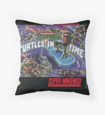 Turtles In Time! Throw Pillow
