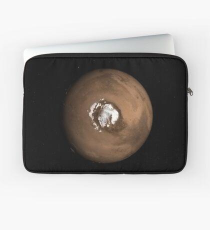 Nadir-Ansicht des Mars-Nordpols. Laptoptasche