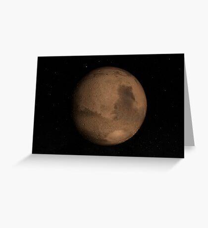 Planet Mars Grußkarte