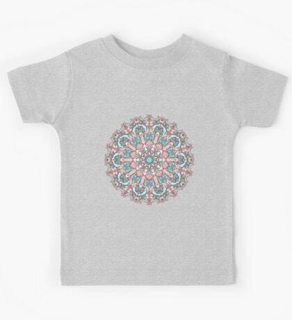 mandala#31 on pink background Kids Clothes