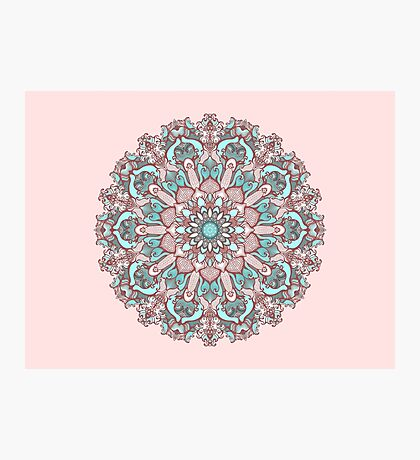 mandala#31 on pink background Photographic Print