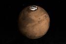 Planet Mars leicht geneigt, um den Mars-Nordpol zu zeigen. von StocktrekImages
