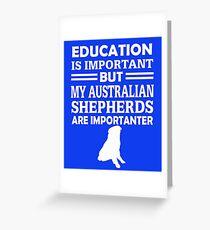 Australian Shepherds  Greeting Card