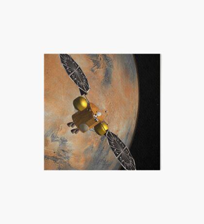 Das Konzept des Künstlers eines Raumfahrzeugs, das Mars umkreist. Galeriedruck