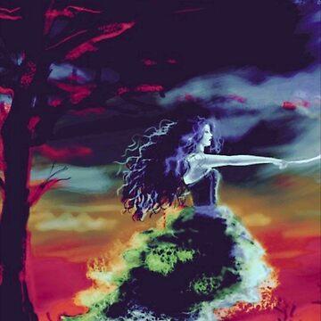 Goddess of lightning by adammcinerney