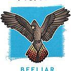 Protect Beeliar Wetlands - blue bgnd by RedCloudDesign