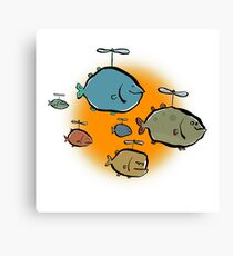helicopter fishes are coming! Canvas Print