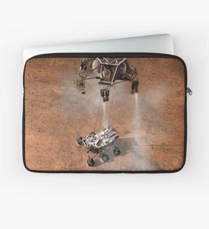 Das Konzept des Künstlers von NASAs Curiosity-Rover, der auf die Marsoberfläche aufsetzt. Laptoptasche
