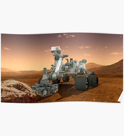 Künstler-Konzept der NASA Mars Science Laboratory Curiosity Rover. Poster